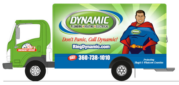 Dynamic Plumbing Heating Air Truck Graphics