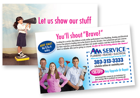 AAA Service Plumbing Heating Electrical Direct Mail Campaign