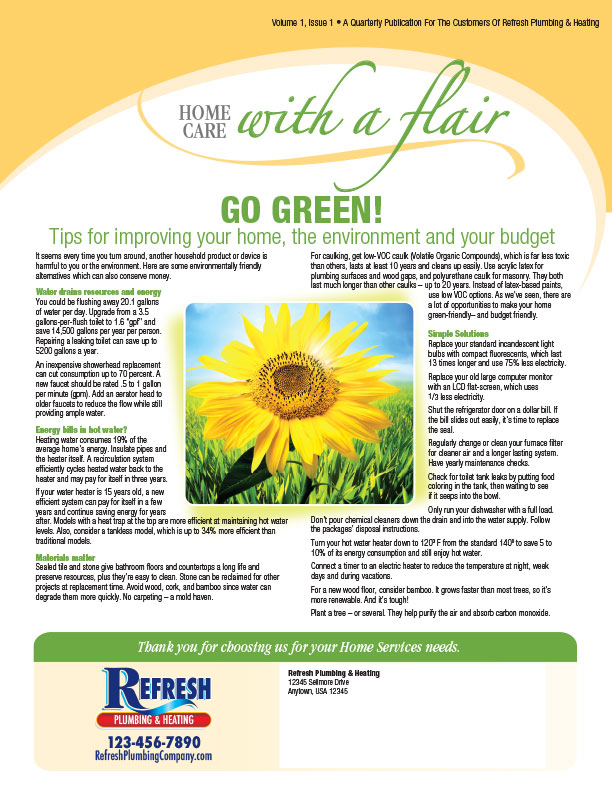 Home Care With A Flair Newsletter