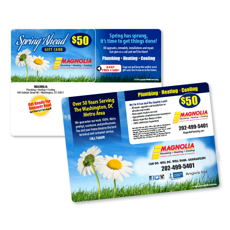 Snap Out Seasonal Gift Card Direct Mail
