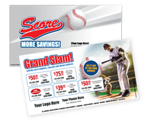 Grand Slam Contractor Direct Mail Postcard