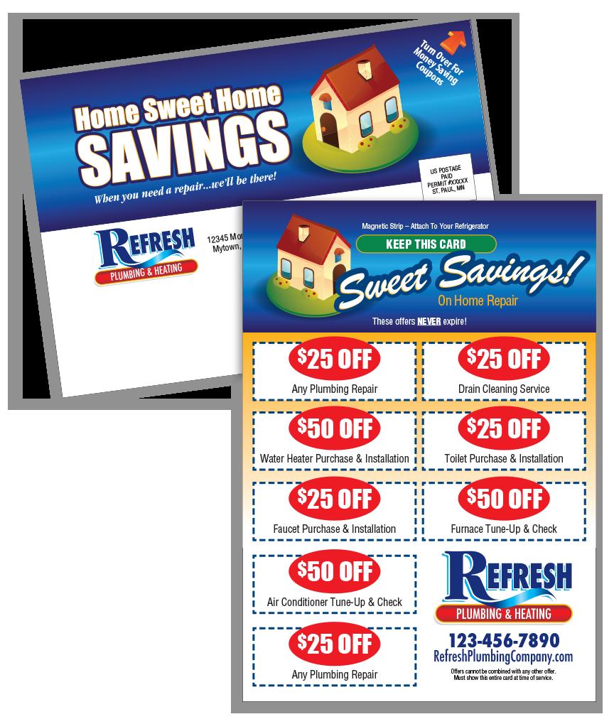 Home Sweet Home Savings Postcard