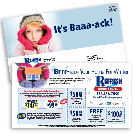 Seasonal Tune-Up Direct Mail–Winter