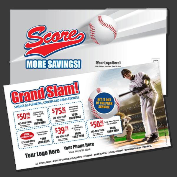 Contractor Multi Coupon Mailer Baseball Theme
