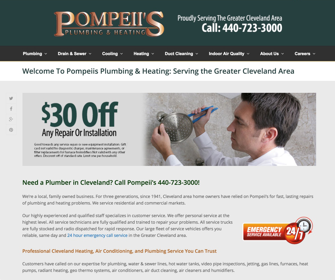 Pompeiis Contractor Website