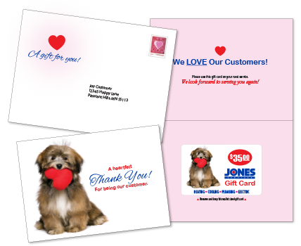 Contractor Gift Card Mailing