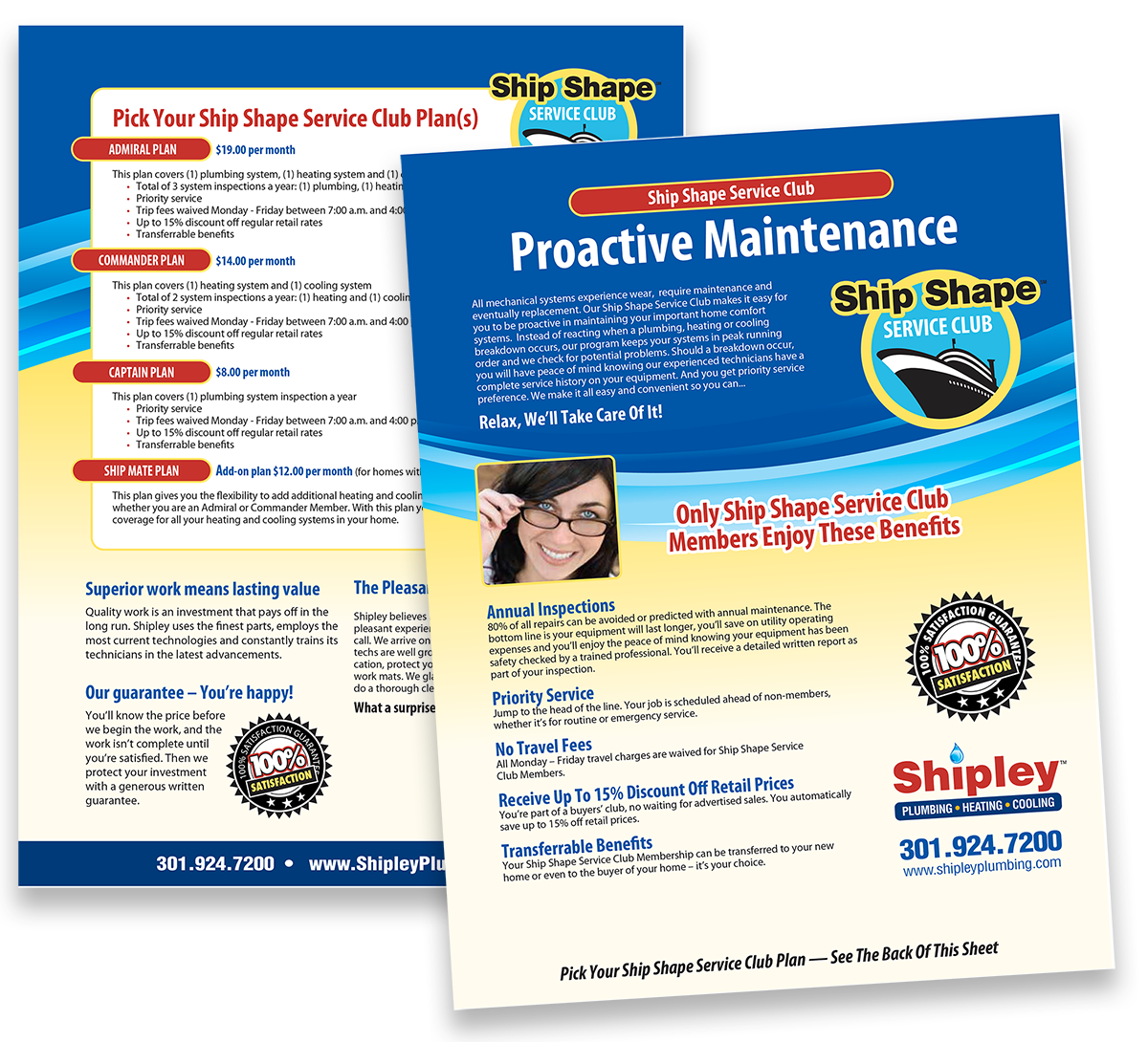 Contractor Maintenance Plan Flyer