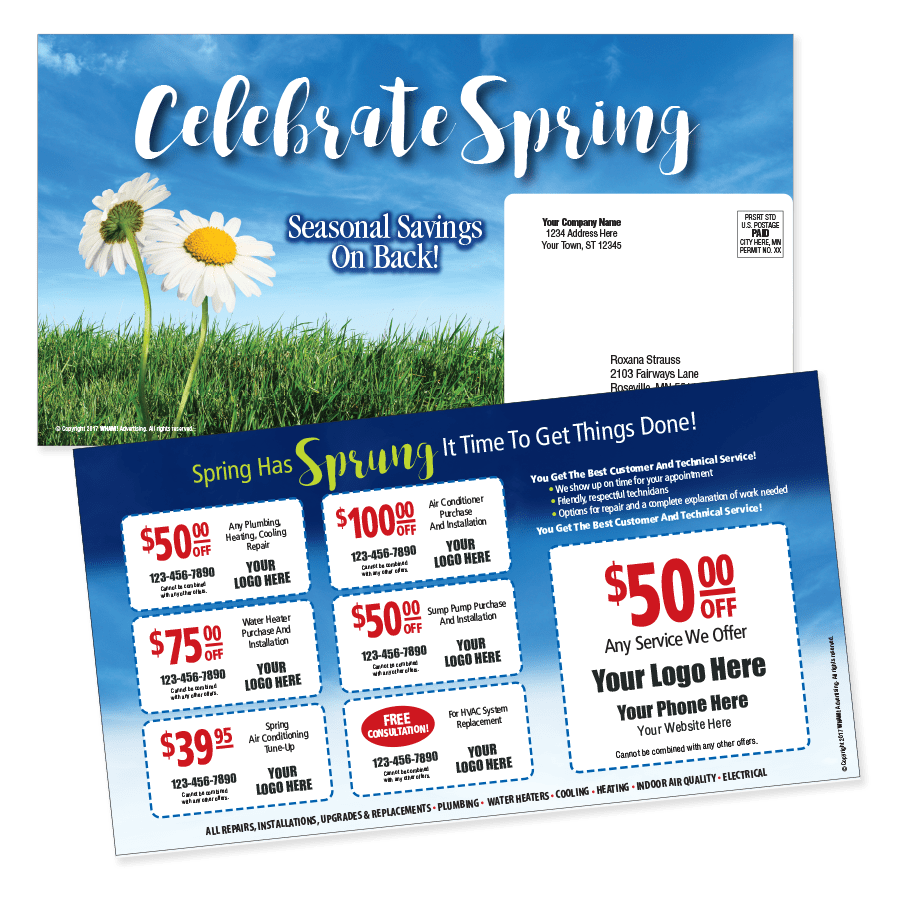 Multi Coupon Spring Theme Mailer