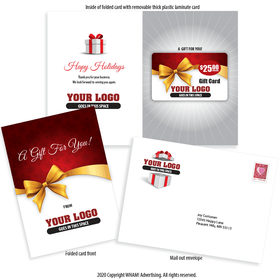 Contractor Direct Mail Holiday Gift Card Package