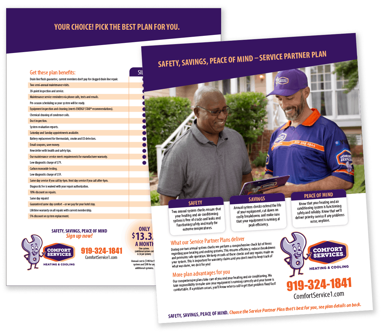 Contractor Maintenance Plan Flyer Brochure